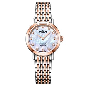 Rotary Ladies' Windsor Mother Of Pearl Bracelet Watch - Product number 9774491