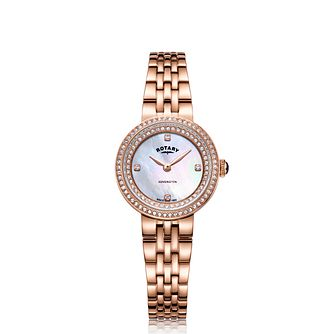 Rotary Kensington Ladies' Rose Gold Plated Bracelet Watch - Product number 9774521