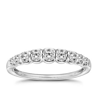 18ct White Gold 1/2ct Diamond Eternity Ring - Product number 9780475