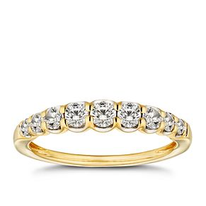 18ct Gold 1/2ct Diamond Eternity Ring - Product number 9780661