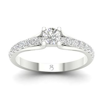 The Diamond Story Platinum 3/4ct Solitaire Diamond Ring - Product number 9780963
