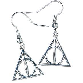 Sterling Silver Deathly Hallows Earrings - Product number 9781145