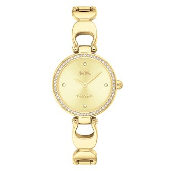 Coach Park Ladies' Gold Plated Signature C Bracelet Watch - Product number 9783636
