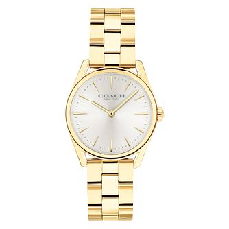 Coach Modern Luxury Ladies' Gold Plated Bracelet Watch - Product number 9783717