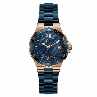 Gc Structura Ladies' Blue Ceramic Bracelet Watch - Product number 9783911