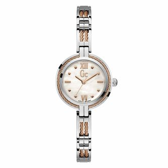 Gc Bijou Cable Ladies' Stainless Steel Bracelet Watch - Product number 9783938