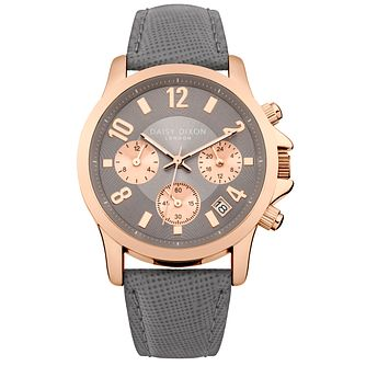 Daisy Dixon Adriana Grey Leather Strap Watch - Product number 9784578