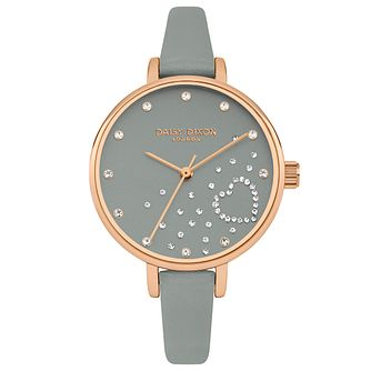 Daisy Dixon Zara Grey Leather Strap Watch - Product number 9784608
