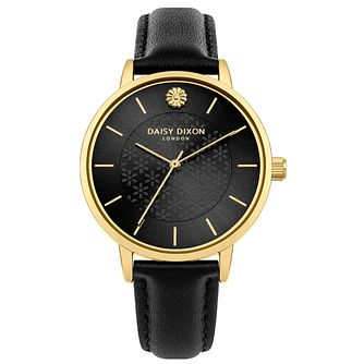 Daisy Dixon Lucy Black Leather Strap Watch - Product number 9784624