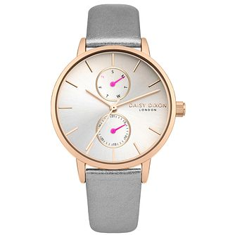 Daisy Dixon Mia Grey Leather Strap Watch - Product number 9784659
