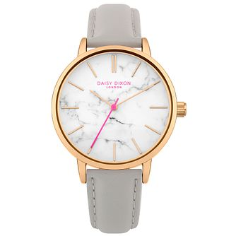 Daisy Dixon Nancie Grey Leather Strap Watch - Product number 9784691
