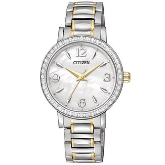 Citizen Ladies' Two-Tone Quartz Swarovski Bracelet Watch - Product number 9784780