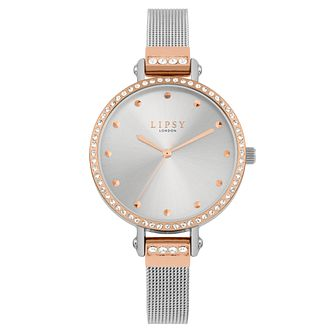 Lipsy Ladies' Silver Dial PU Strap Watch - Product number 9789847