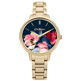 Cath Kidston Paintbox Flowers Gold Tone Bracelet Watch - Product number 9789871