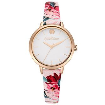 Cath Kidston Paintbox Flowers Ladies' Pink PU Strap Watch - Product number 9789987