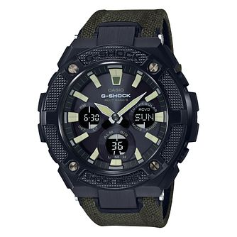 Casio G-Shock Green Fabric Black Dial Watch - Product number 9790276