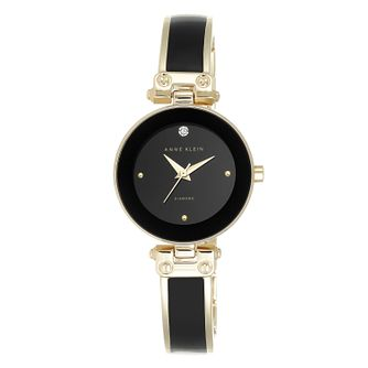 Anne Klein Ladies' Black And Gold Bangle Watch - Product number 9790705