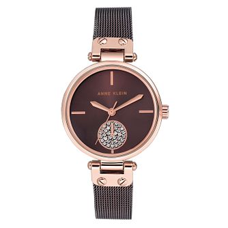 Anne Klein Ladies' Rose Gold and Brown Watch - Product number 9790845