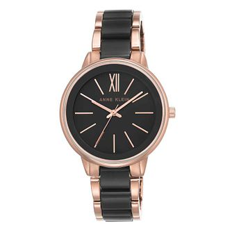 Anne Klein Ladies' Rose Gold Black Ceramic Watch - Product number 9790918