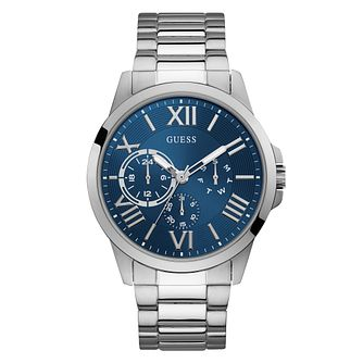 Guess Men's Stainless Steel Blue Dial Watch - Product number 9790926