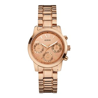Guess Ladies' Rose Gold Tone Bracelet Watch - Product number 9790942