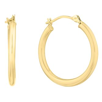 9ct Yellow Gold Hoop Earrings - Product number 9790993
