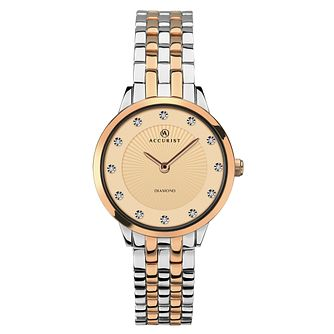 Accurist Ladies' Rose Gold Two-Tone Bracelet Watch - Product number 9792694