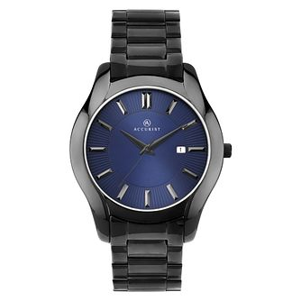 Accurist Men's Black Stainless Steel Bracelet Watch - Product number 9792880
