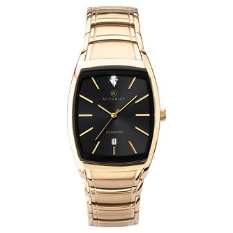 Accurist Men's Diamond Gold-Tone Bracelet Watch - Product number 9792899