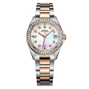 Rotary Ladies' Two-Tone Rose Gold Tone Bracelet Watch - Product number 9792937