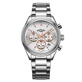 Rotary Men's Stainless Steel Chronograph Bracelet Watch - Product number 9794158