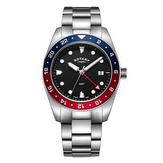 Rotary Pepsi Men's Stainless Steel Bracelet Watch - Product number 9794166