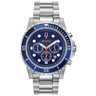 Bulova Men's Blue Dial Classic Watch - Product number 9795839
