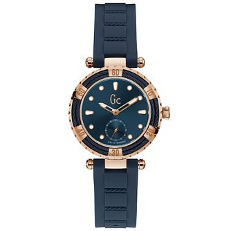 Gc CableChic Ladies' Blue Silicone Strap Watch - Product number 9800395