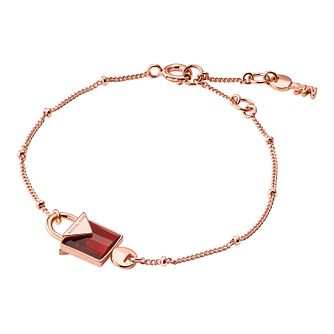 Michael Kors 14ct Rose Gold Plated Kors Colour Bracelet - Product number 9801073