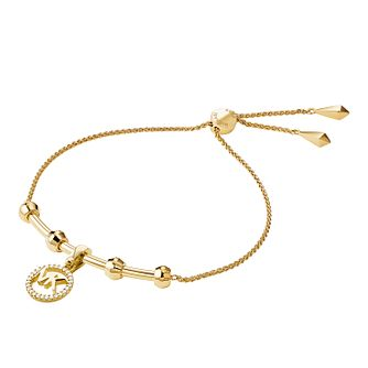 Michael Kors 14ct Gold Plated Silver Custom Kors Bracelet - Product number 9801219