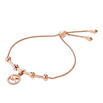 Michael Kors 14ct Rose Gold Plated Custom Kors Bracelet - Product number 9801227