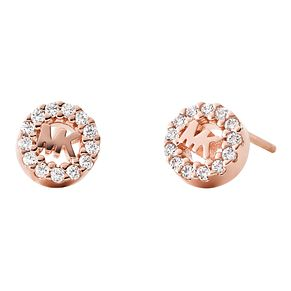 Michael Kors Rose Gold Plated Silver Logo Stud Earrings - Product number 9801553