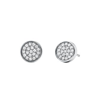 Michael Kors Sterling Silver Circle Stud Earrings - Product number 9801561