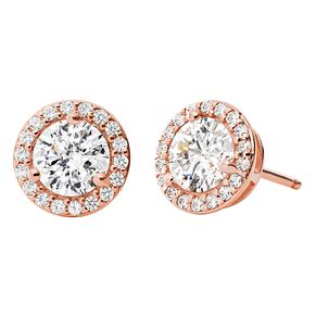 Michael Kors 14ct Rose Gold Plated Silver Halo Stud Earrings - Product number 9801650