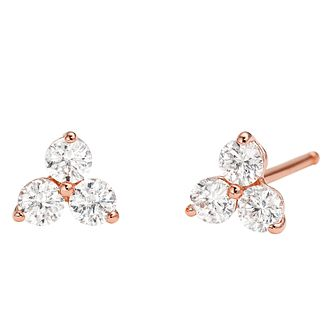 Michael Kors 14ct Rose Gold Plated Silver Stud Earrings - Product number 9801707