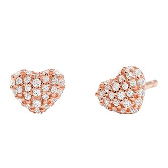 Michael Kors 14ct Rose Gold Plated Silver Stud Earrings - Product number 9801774