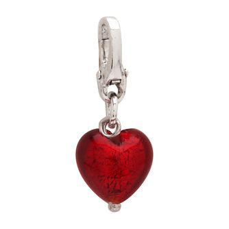 Charmed Memories Red Murano Glass Heart Bead - Product number 9802401