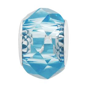 Charmed Memories Sterling Silver Blue Faceted Crystal Bead - Product number 9802568