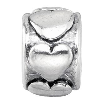 Charmed Memories Sterling Silver Hearts Bead - Product number 9802827