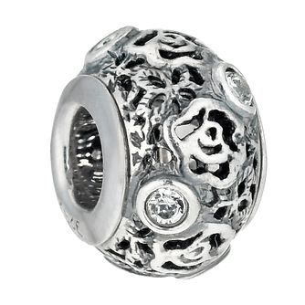 Charmed Memories Sterling Silver Crystal Filigree Bead - Product number 9802894