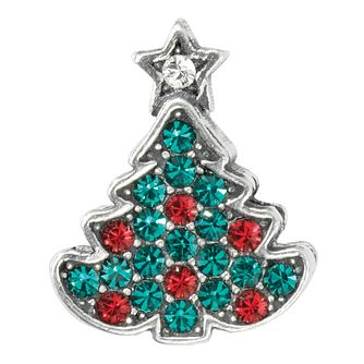Charmed Memories Sterling Silver Crystal Christmas Tree Bead - Product number 9803041