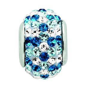 Charmed Memories Blue & White Crystal Bead - Product number 9803270