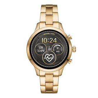 Michael Kors Ladies' Yellow Gold Tone Runway Access Watch - Product number 9804684
