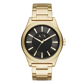 Armani Exchange Gold Stainless Steel Bracelet Watch - Product number 9805125
